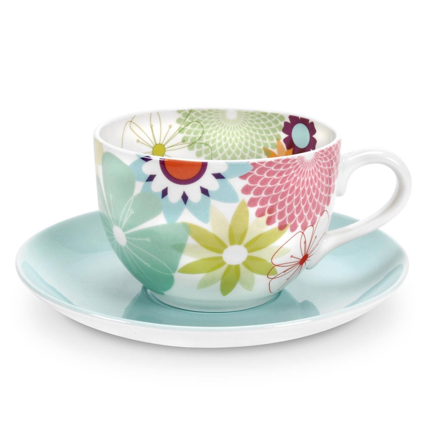 Portmeirion Crazy Daisy Jumbo Cup Saucer Set Uk