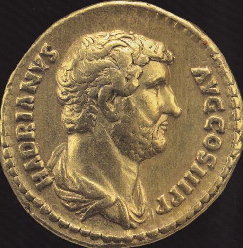 roman gold aureus hadrian numisma pinterest roman