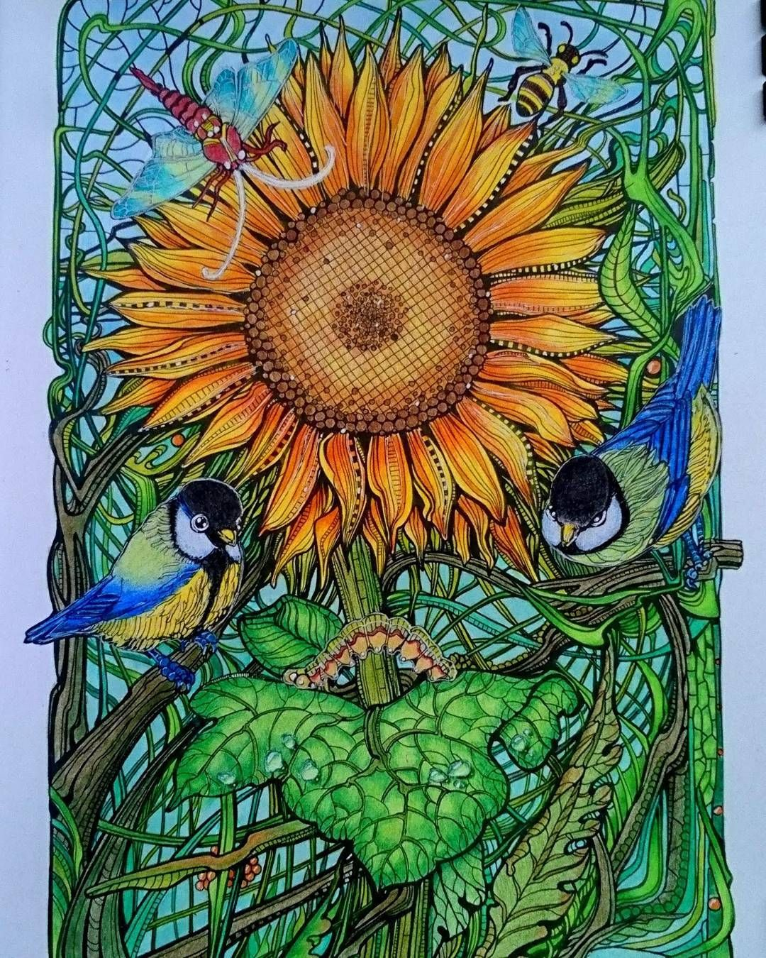 This Is My Contribution For Coloralong Februarylovebirds Hosted By Suzied56 Manicbotanic Irinavinnik Zifflin Coloring Books Painting Art