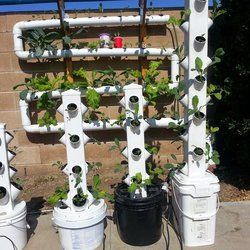 Hydroponic Growing Towers I build hydroponic growing towers from