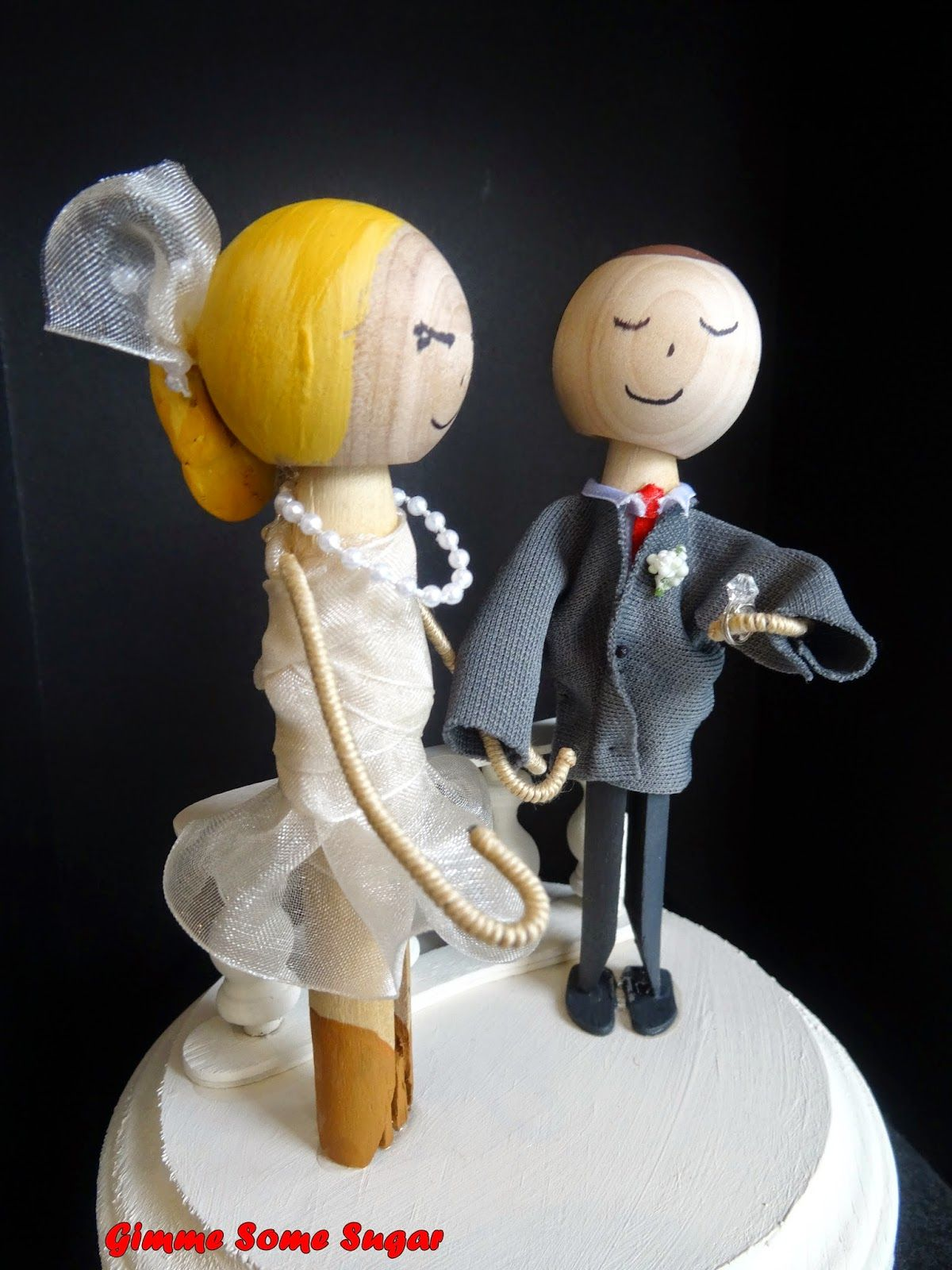 Custom cake toppers engaged in rome wedding cake top it