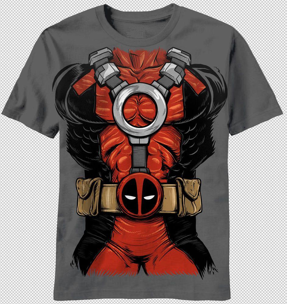 17 Men/'s Officially Licensed Deadpool Marvel Heroes Short Sleeve T-Shirt BNWT