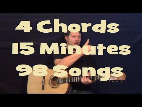 How To Play 60 EASY 2, 3, & 4 Chord Guitar Songs In 12 Minutes G C D ...