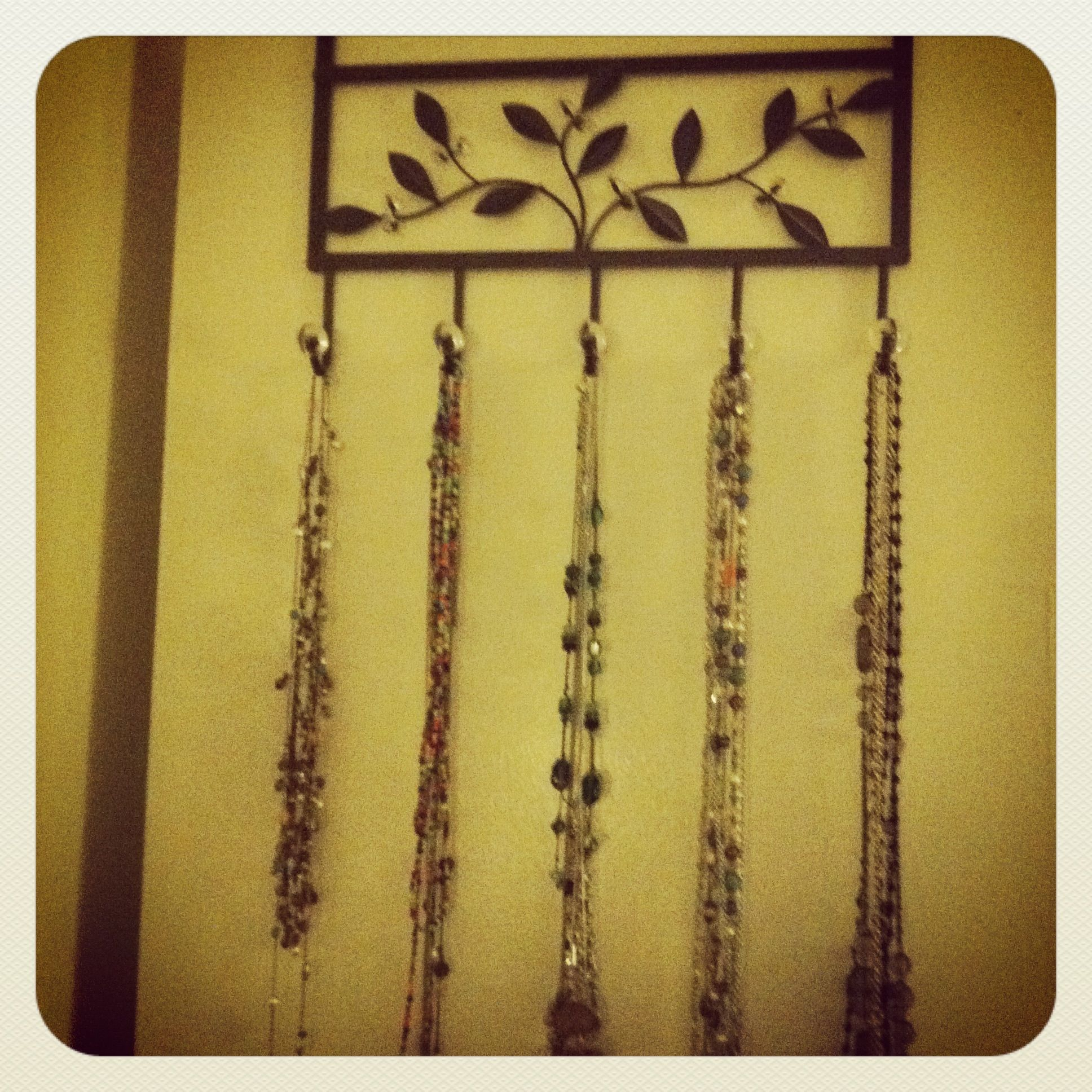 Smallspace Decor: Hang Up Your Long Necklaces With An Over The Door Towel