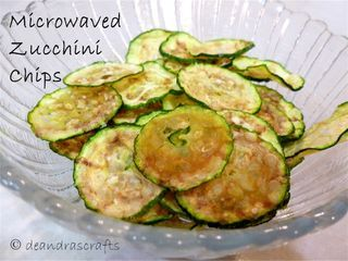 Microwaved Zucchini Chips (works with potatoes, too!)