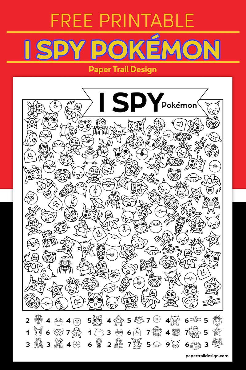 Free Printable I Spy Pokemon Activity Paper Trail Design Business For Kids Kids Handwriting Paper Trail [ 1200 x 800 Pixel ]
