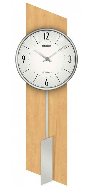 The Seiko QXM485BLH Brookfield Contemporary Wall Clock is