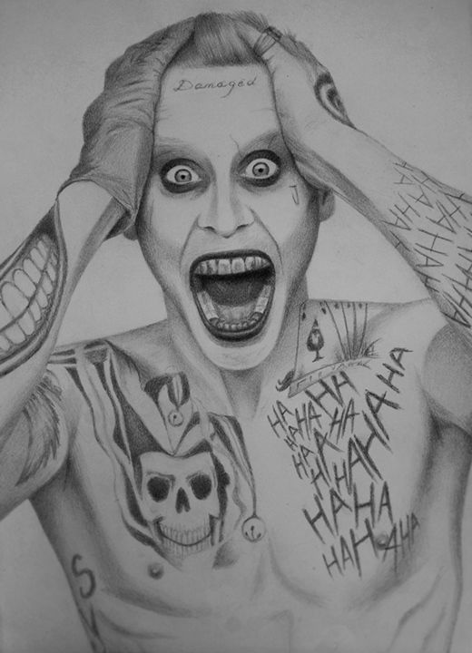 Pencil Joker Tattoo Samll