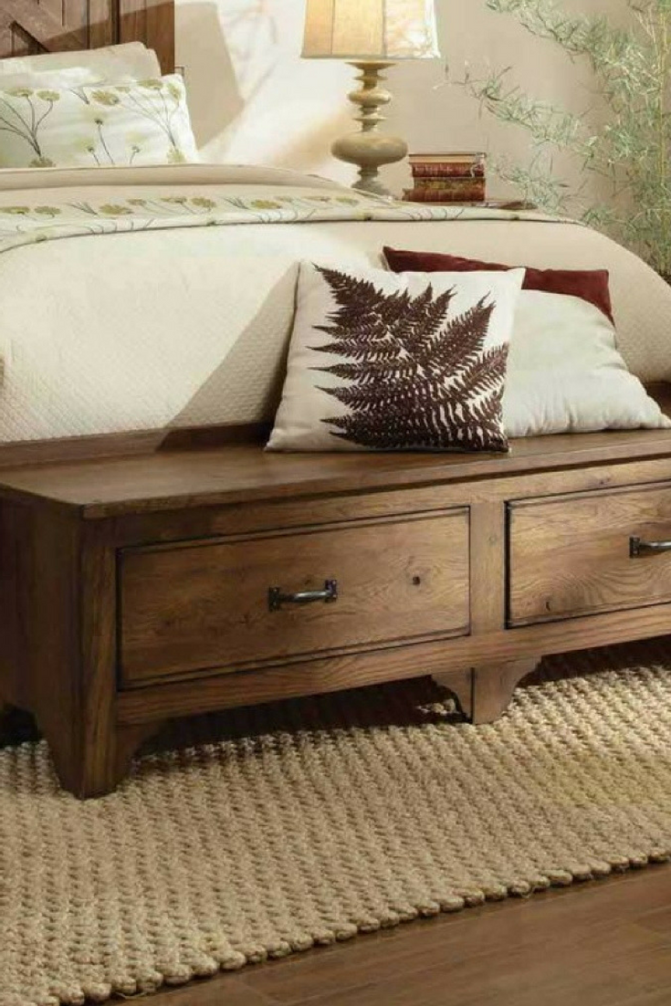 Instead of the usual bench in front of the bed, you can have a