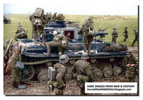 German Soldiers Stay Very Close To This Panzer 4 Tank
