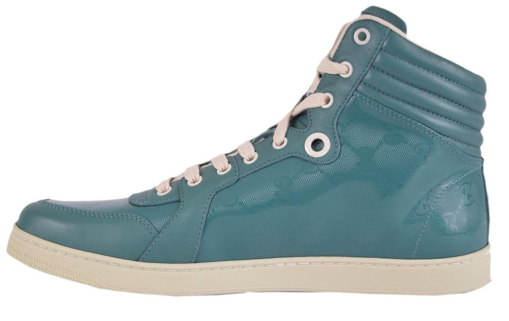 59be109a3 NEW Gucci Men's Green Ltd. Ed. GG Imprime High Top Sneaker Shoes 11.5 G  12.5 U.S