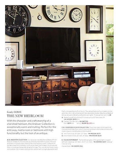 Clock Wall. Pottery Barn Catalog · Media ConsolesTv CabinetsMedia ...