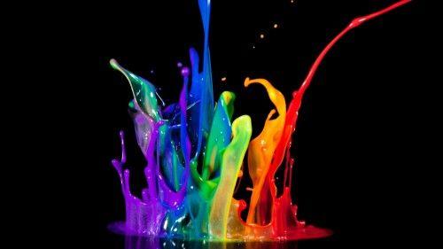 Amazing Neon Rainbow Abstract HD Desktop Wallpaper
