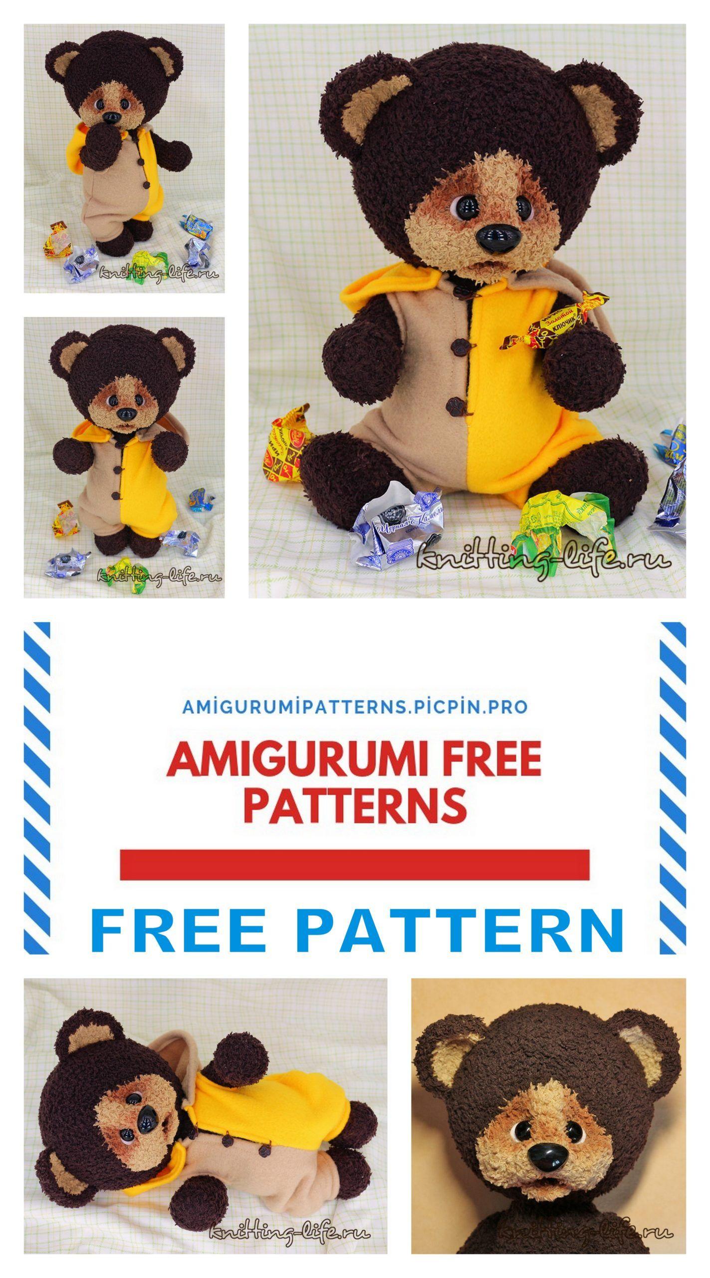 Amigurumi Teddy Bear Crochet Free Pattern | Crochet teddy bear ... | 2560x1423
