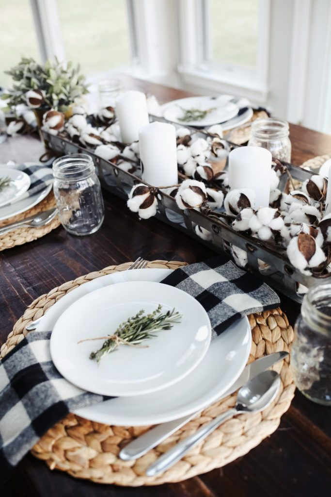 Modern Farmhouse Thanksgiving Tablescape   Dining table ...