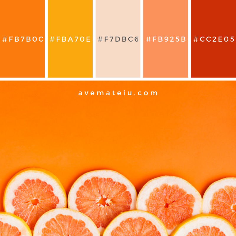 Grapefruit Background With Copyspace Color Palette 252 Ave Mateiu Orange Color Palettes Color Palette Yellow Color Palette Bright