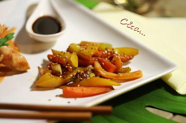Cucinando e assaggiando...: Verdure saltate al sesamo