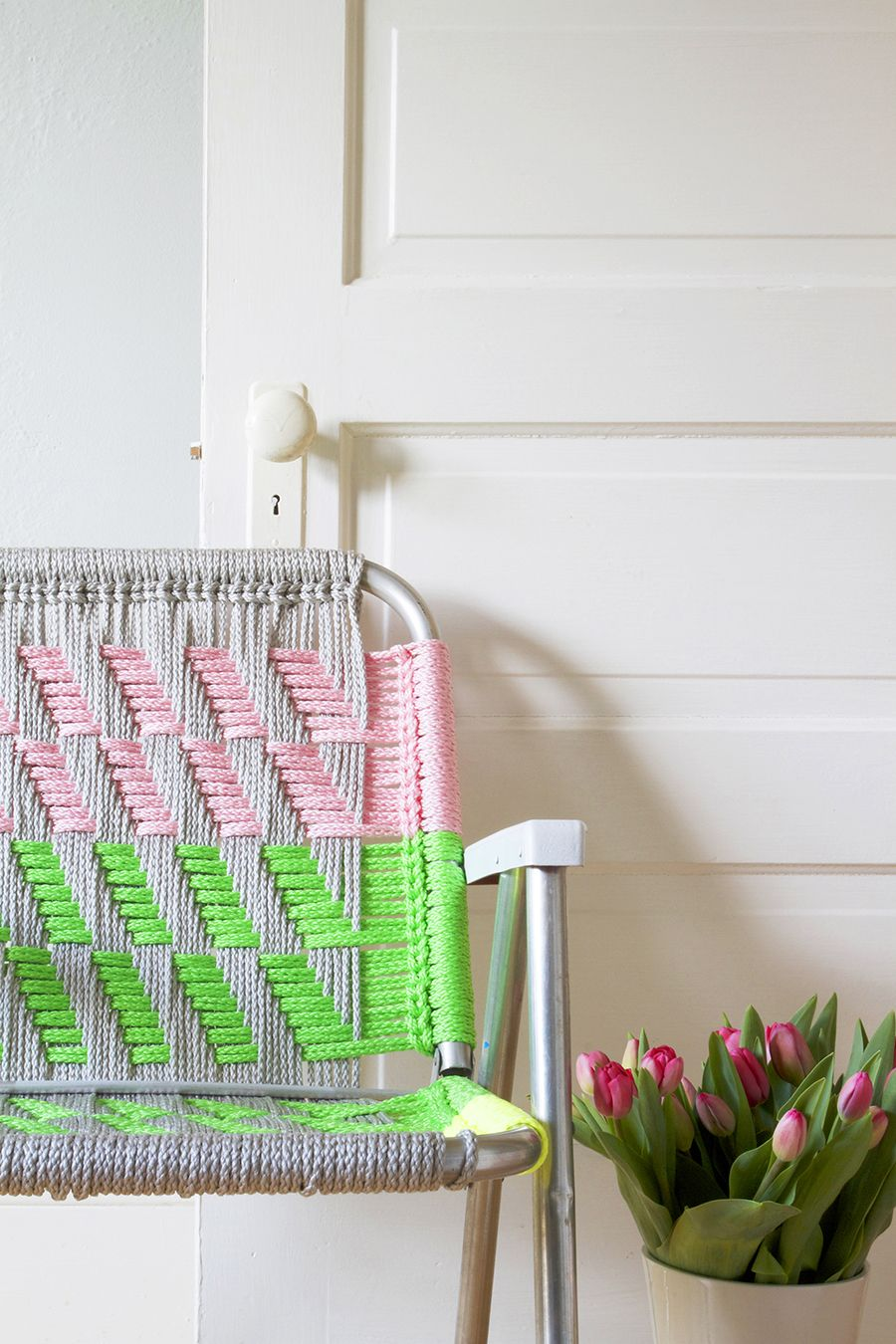 Woven Macrame Chair Tutorial Diy Decoration Chaises Macrame Et Brico Deco