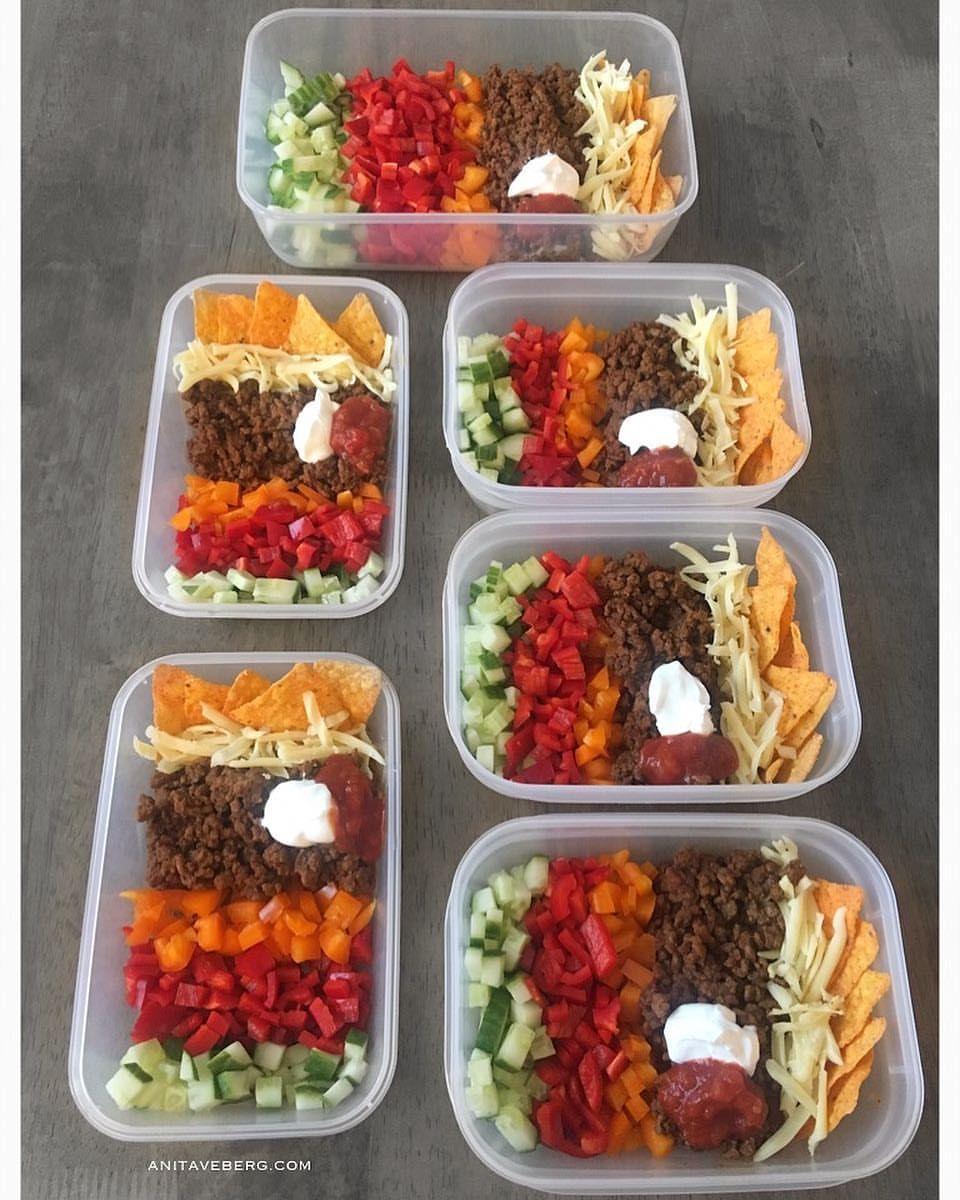 """7 likerklikk, 2 kommentarer – ANITA VEBERG (@ptanitaveberg) på Instagram: """"T A C O P R E P ♨️ Det er jo snart fredag!😍 Dette trenger du: 1) Grønsaker og evt salat 2)…"""""""