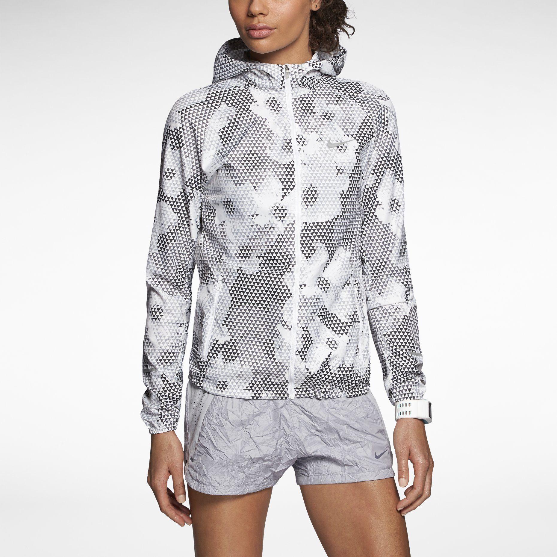 Nike Dames Distance Imprimé Veste En Cours Dexécution
