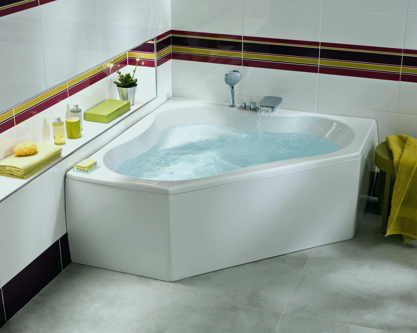 Baignoire 140 X 80 Baignoire 140 X 80 Baignoire Balneo D Angle 140 X 140 Hydromassante Baignoire Balneo Bathroom Design Layout Corner Bath Bathrooms Remodel