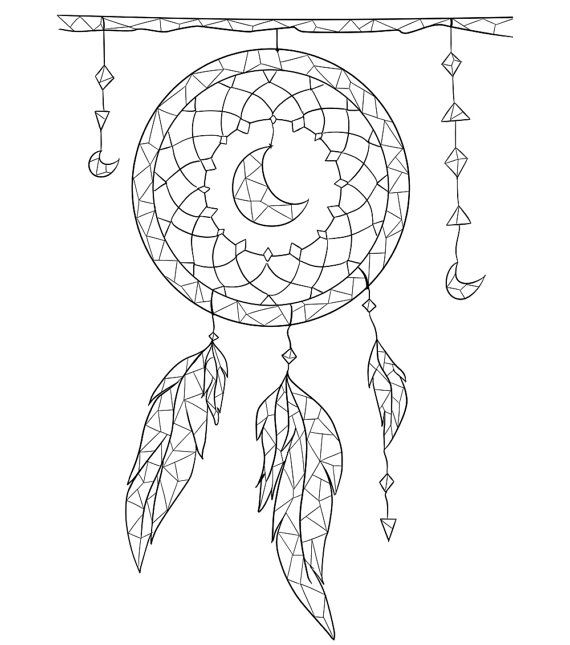 Adult coloring page Boho coloring page by