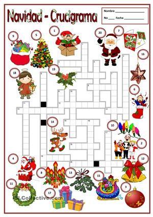 Crucigrama soluci n trabajos ele navidad pinterest - Sopa de letras de navidad ...