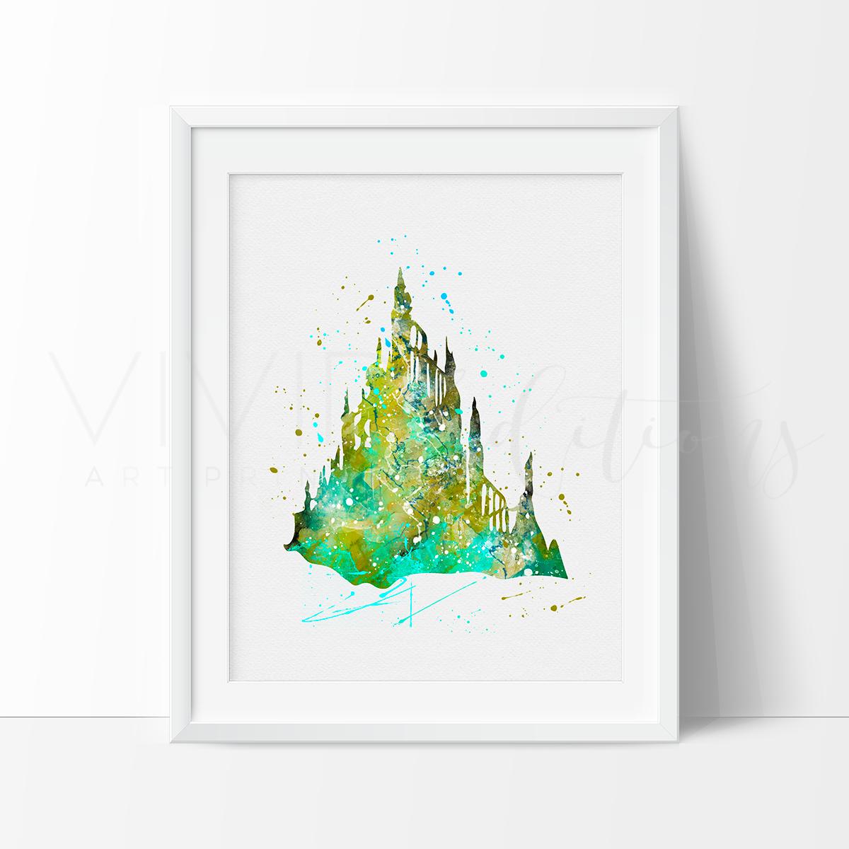 Little Mermaid Castle Ariel Princess Nursery Art Print