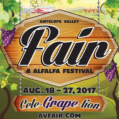 """Cele-GRAPE-tion!"" is the theme for the 79th Annual Antelope Valley Fair & Alfalfa Festival, August 18 - 27, 2017!"