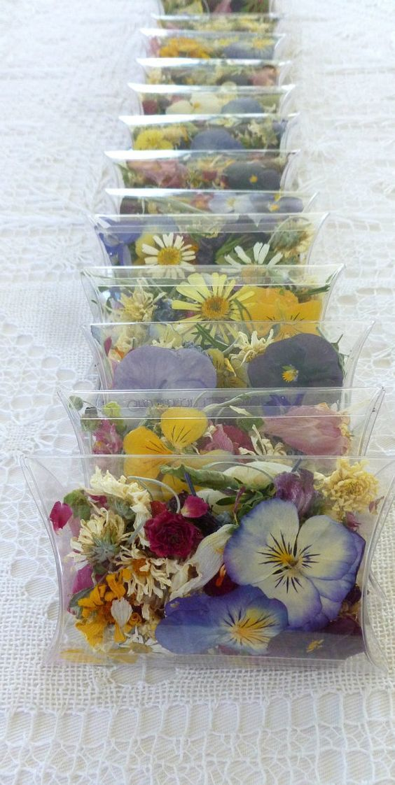 Dried wildflower confetti is such an adorable idea for a ...
