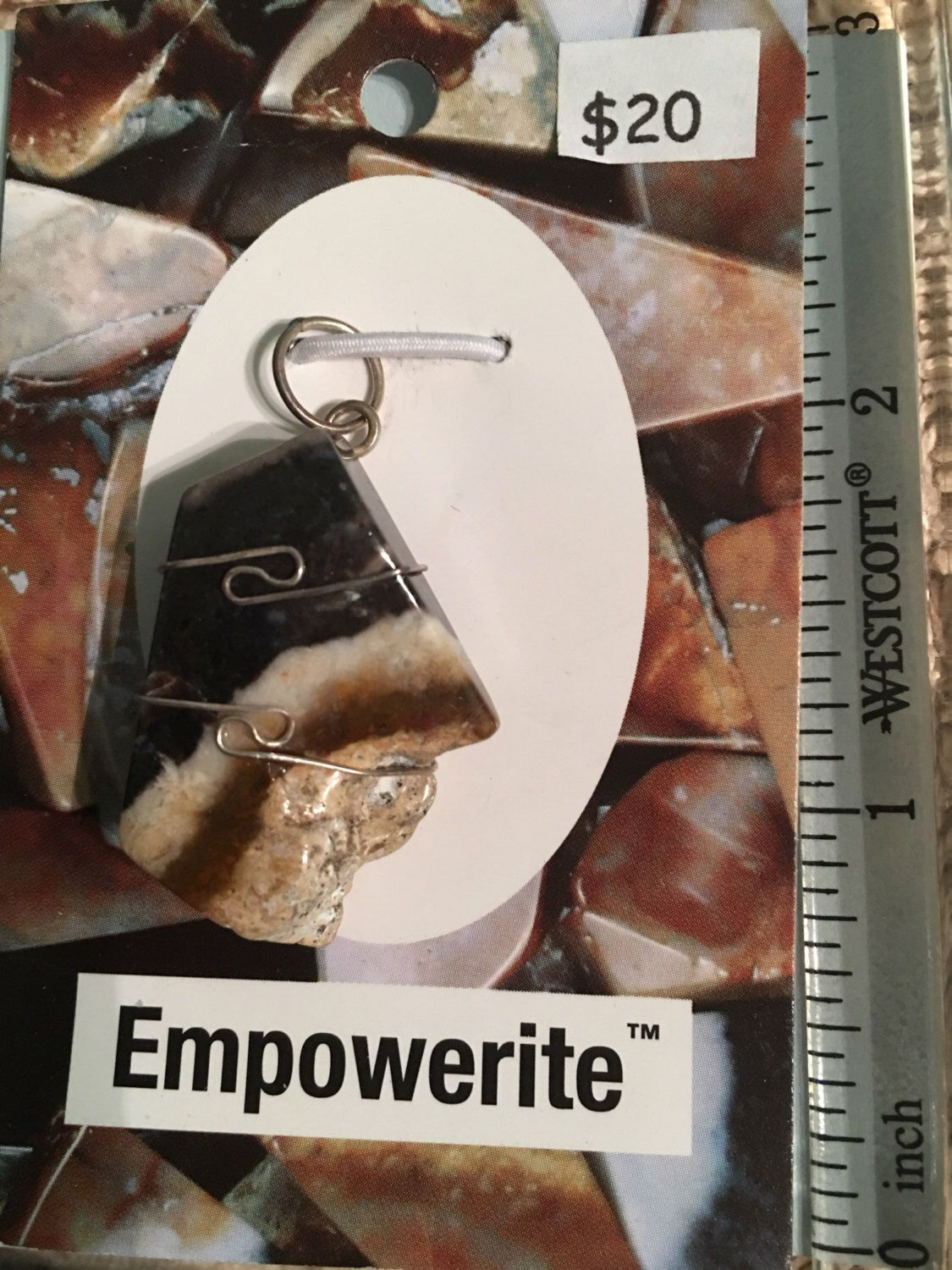Energy Strength .925 Sterling Silver Motivation! Confidence Very Rare /& Powerful Personal Power One Empowerite Wire Wrap Pendant