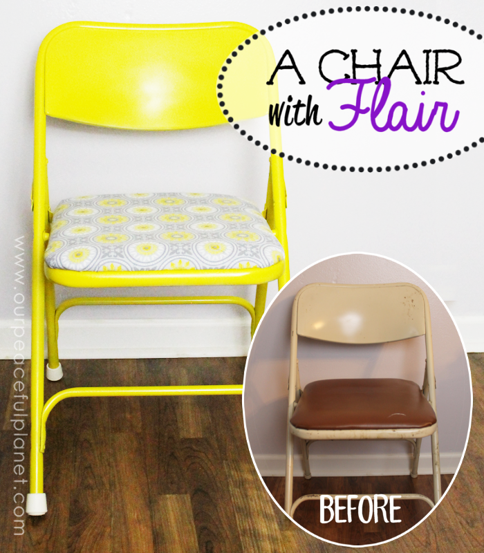 A Chair With Flair : Paint A Folding Chair ·