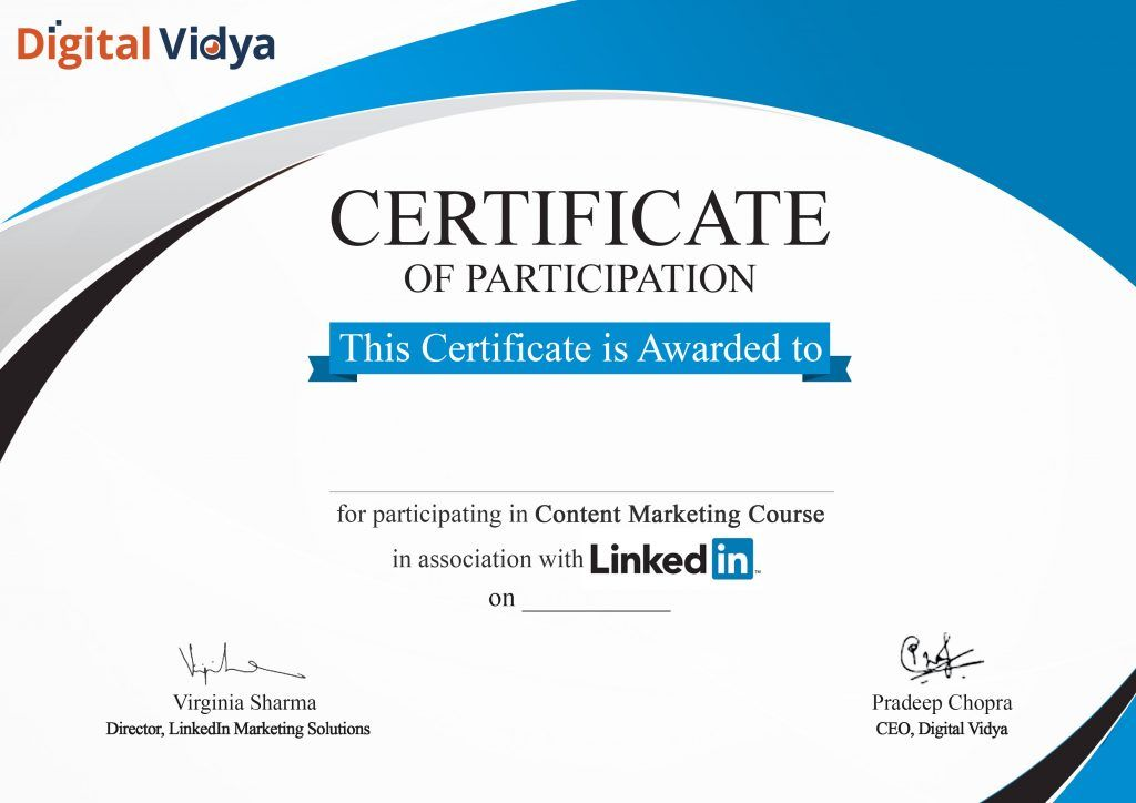 LinkedIn Learning certificate Marketing courses
