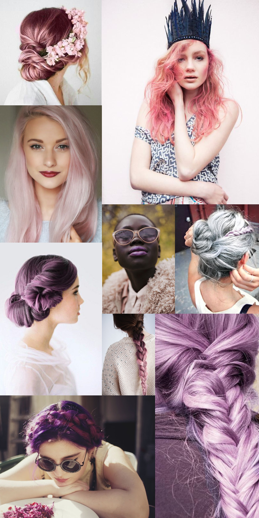 pink and purple and braids, oh my