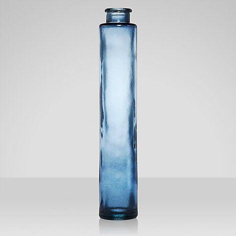 Buy John Lewis Croft Collection Glass Vase Blue Height 31cm Online