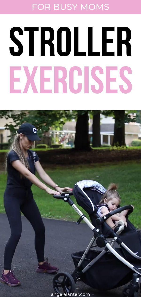Stroller Exercises for Busy Moms. Angela Lanter Short Fitness Routine for moms. Angela Lanter #Angel...