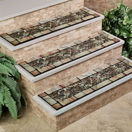 Patio Stone Stair Treads Outdoor Stairs Patio Stones Exterior | Exterior Stone Stair Treads | Stone Slab | Grey Flagstone Step | Solid Weathered | Carpet Metal Rail Wood Cap | Brick