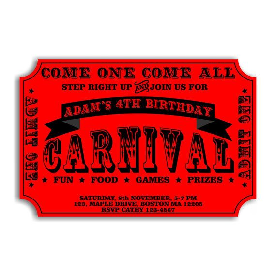 having a carnival party get the perfect party invitation how to