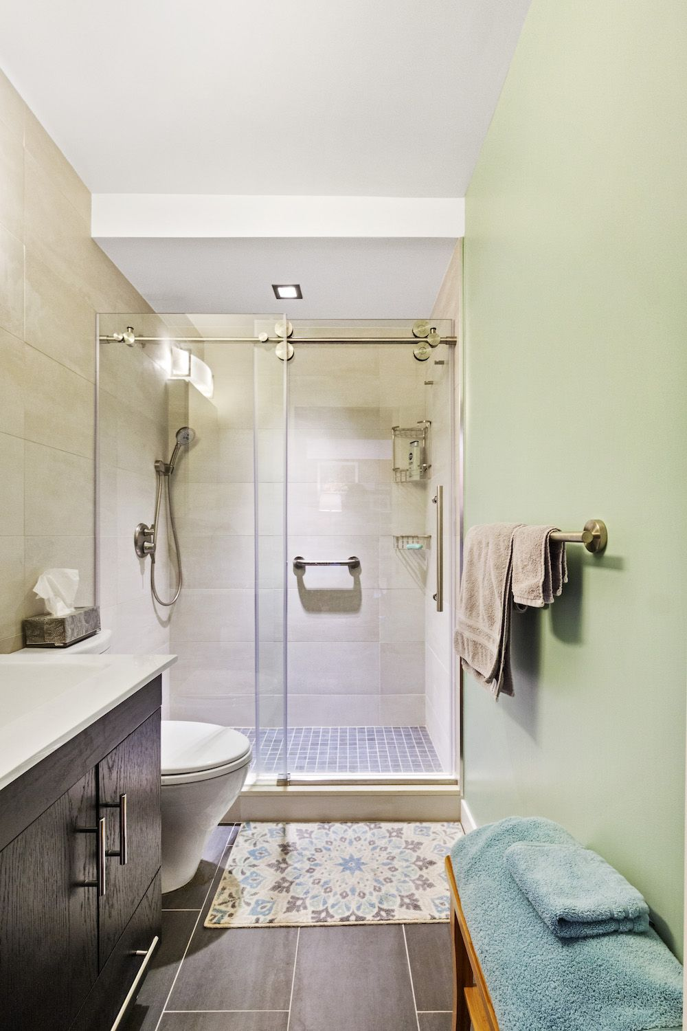 A Small Windowless Bathroom Expands After Renovating With Sweeten Windowless Bathroom Bathrooms Remodel Bathroom Design Tool