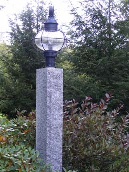 Woodbury Gray Lamp Post Lamppost Outdoorlighting Granite Post Lights Lantern Post Lamp Post