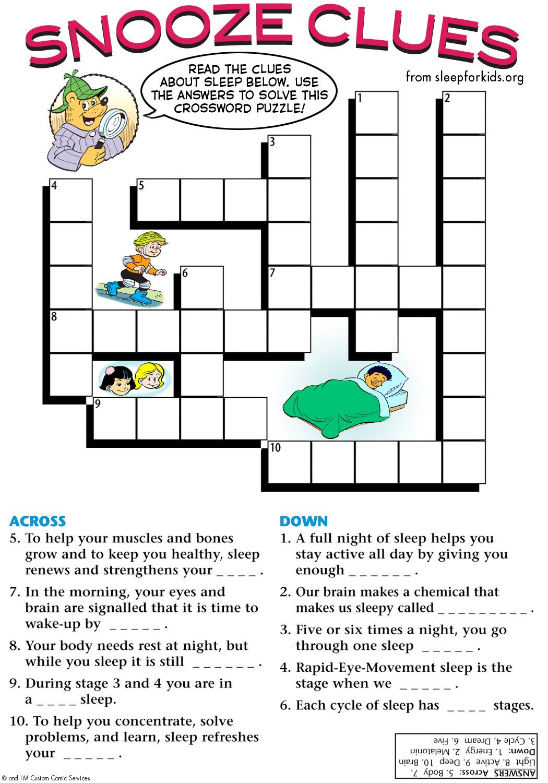 Snooze Clues. Sleep for Kids Teaching Kids the