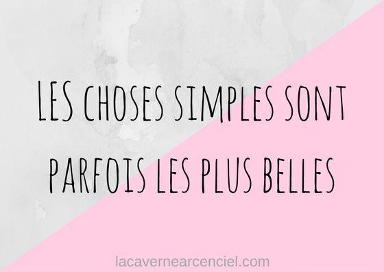 Citation Bonheur Les Choses Simples Sont Parfois Les Plus