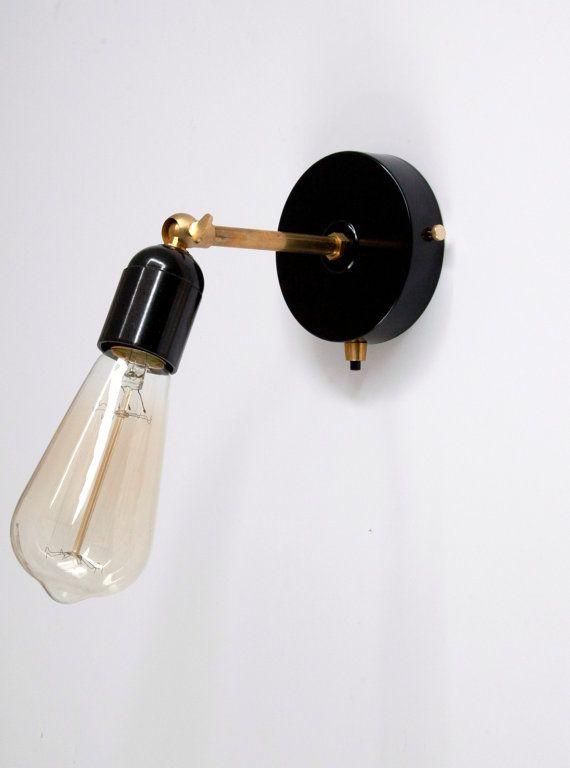 Messing Wandleuchte Licht Mit Schwarzem Bakelit Lampe Halterung