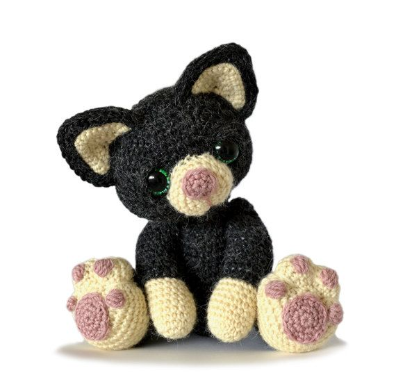 Gatito gato Amigurumi Crochet patrón instantánea por PatchworkMoose ...