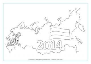 Sochi Winter Olympics Colouring Page. Also has pages for