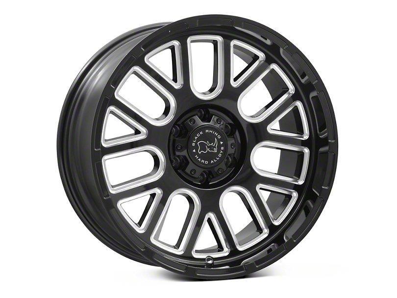 Black Rhino Pismo Gloss Black Milled 6Lug Wheel 20x9.5