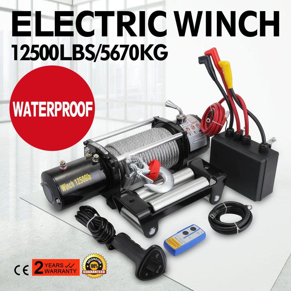 Super Winch 12500LBS ATV/UTV Electric Winch Wireless Remote