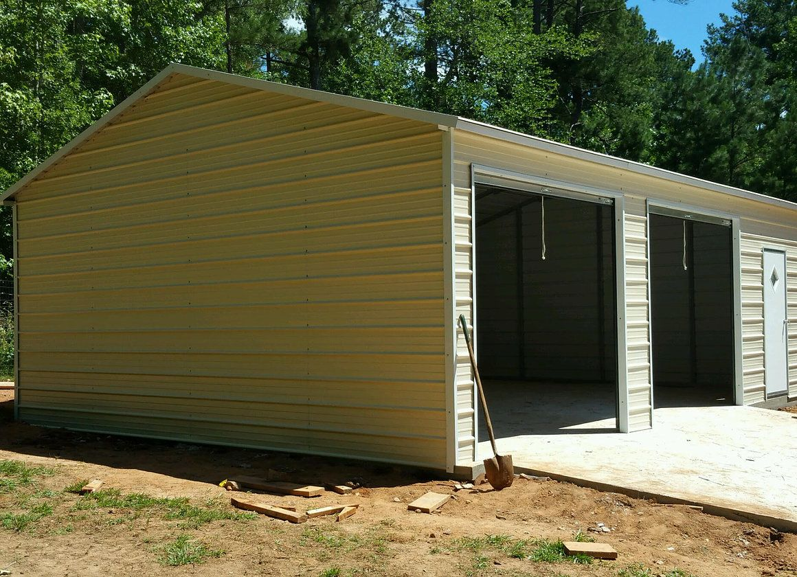50 22'W x 31'L x 9'H Garages vertical Roof (With images