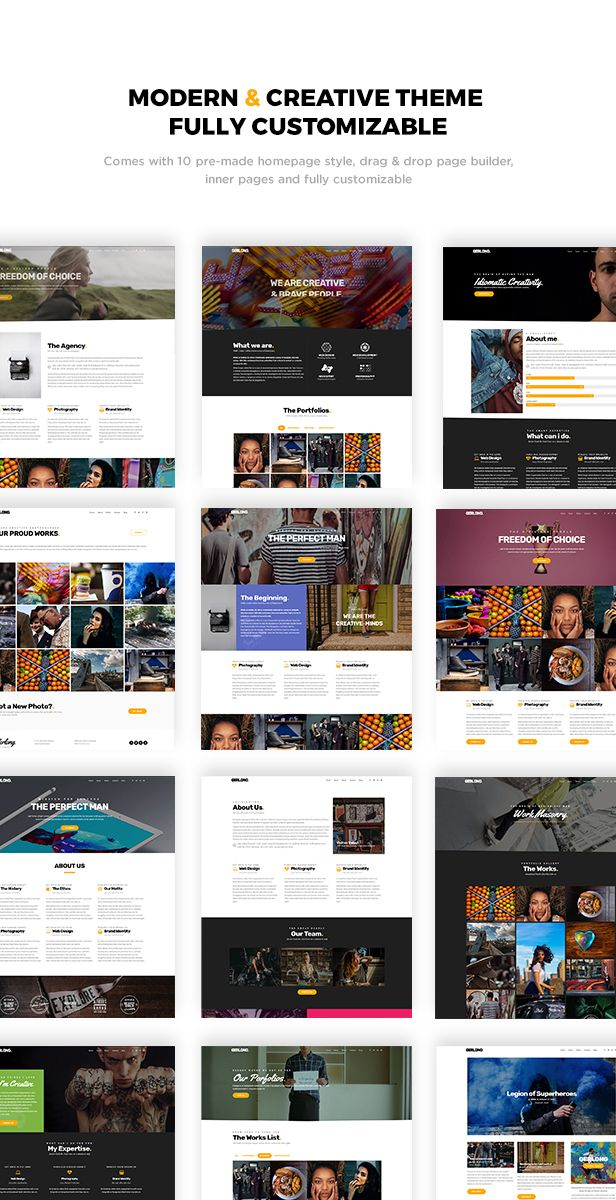Gerlong - Responsive One Page & Multi Page Portfolio Theme | Layout ...