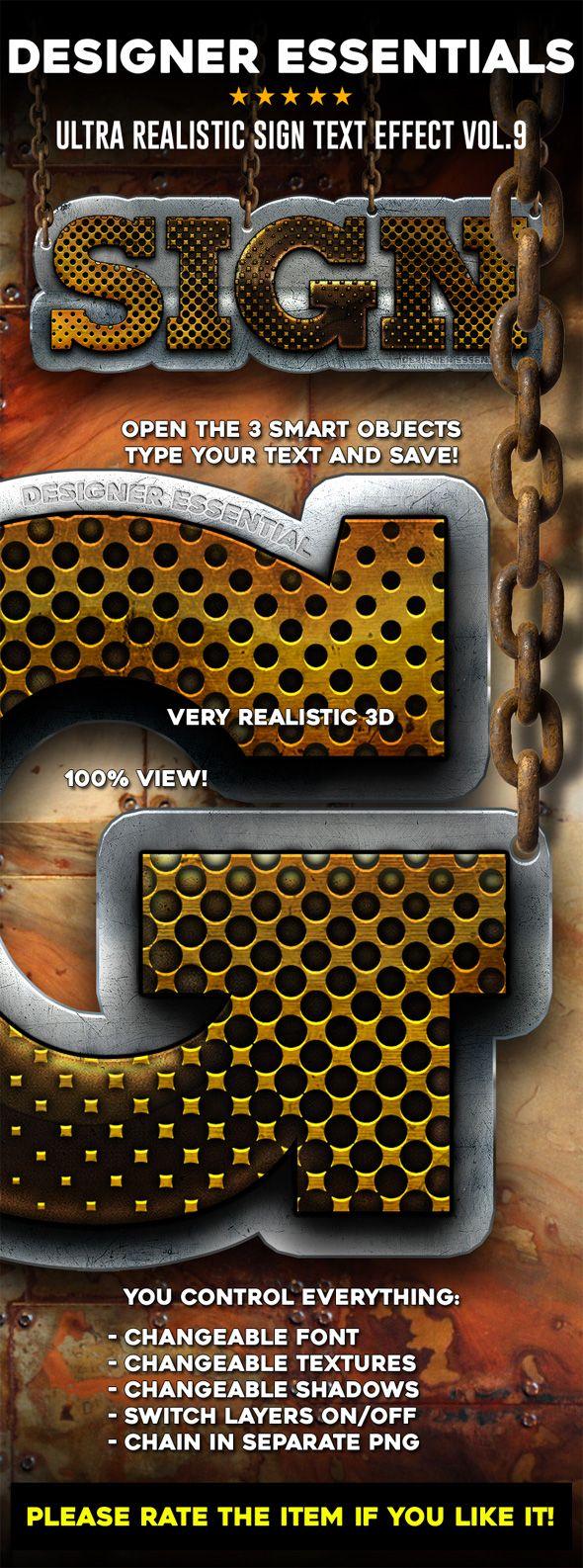 Designer Essentials Ultra Realistic Text Effect Vol.9